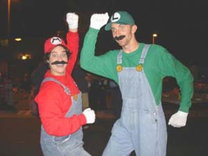if youre going out as a video game character and mario and luigi are the only two that come to mind then you need to fuck right off